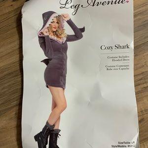 Women's shark dress Halloween costume EUC L